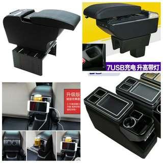 Car armrest console box, visor, engine air filter, cabin filter, wiper, bumper boot lip