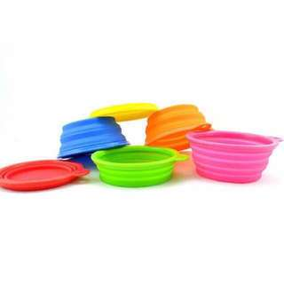Collapsible Pet Bowl with Bag hook for Dog Cat