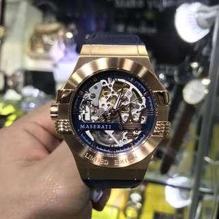 超跑🏎馬莎拉蒂限量機械腕錶