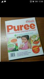 Buku puree makanan lembut bayi 6-12 bulan