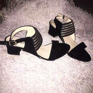 Six Strap Chunky Semi heels