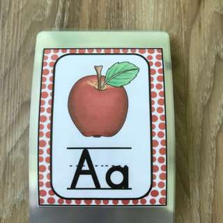 Alphabets Flashcards Set A (A6) for young children, preschoolers, children