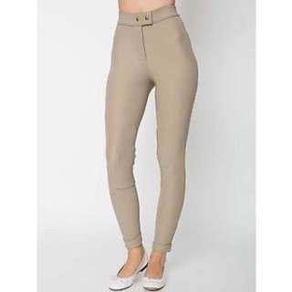 American apparel riding pants in taupe