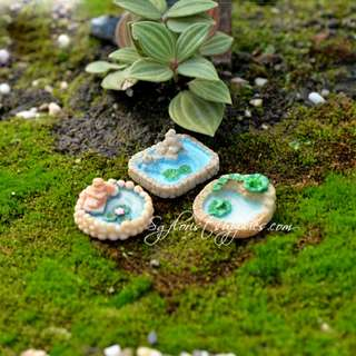 Fairy Garden Accessories Micro Landscaping  Miniature Pond
