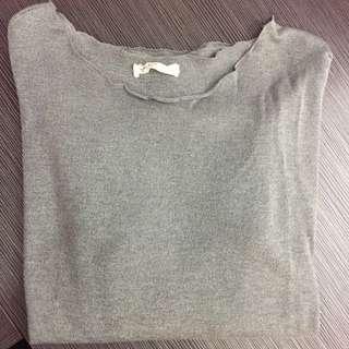 Pazzo 灰色素面薄長袖