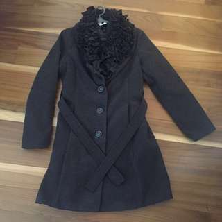 Winter coat ~ dark grey color