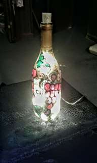 Wine bottle that lights up
