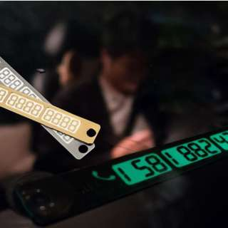 Stylish Glow In the Dark Double Park Phone Number Panel