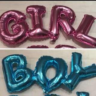 Girl / boy foil balloon
