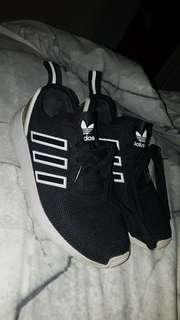 Black and White Adidas Fluxes