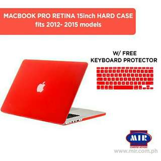 FREE SHIPPING Macbook Pro Retina 15 inch Hard Case with FREE Keyboard protector