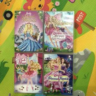 Barbie dvd (4 pieces)