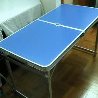 全新鋁質戶外摺枱連 4 座椅,九龍區包送貨 Size:  L:1200mm W:600mm H:700mm.
