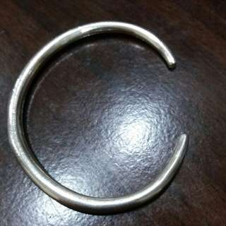 純銀925實心銀鐲/很少配戴/手圍約18.5