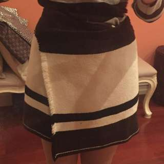 Isabel Marant Skirt Black N White Wool 38 (fits 10)