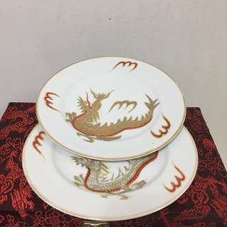 2 Pieces Dragon Plates