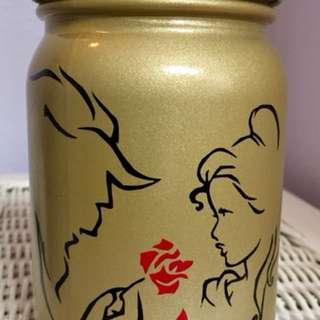 """Beauty And The Beast"" Mason Jar Coin Bank"