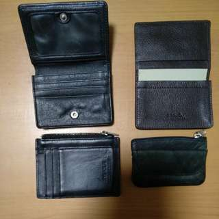 REPRICED: PACKAGE of combination of 4 pcs(credit card wallets, coin wallets)