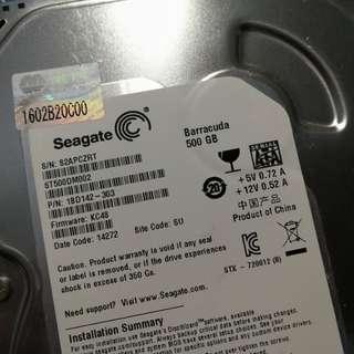 二手 500GB 3.5吋內置硬碟