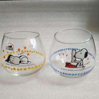 Snoopy 玻璃杯共2隻