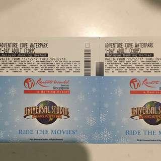 Adventure Cove Tickets (A Pair)
