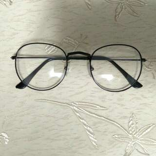 INSTOCK [black] [round circle oval] Korean spectacles Korean specs ulzzang