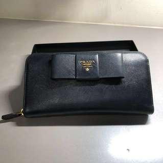 AUTHENTIC Prada saffiano long wallet