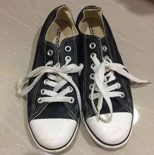 Converse kulit leather hitam black