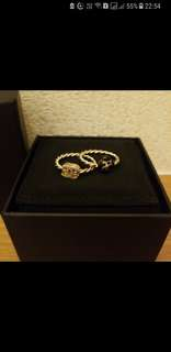 chanel set of 2 rings