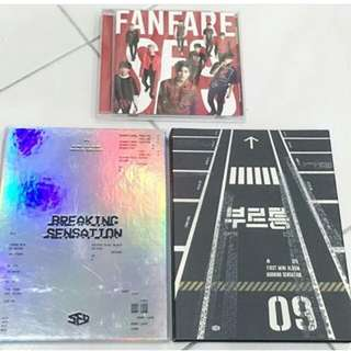 [UNSEALED] SF9 Breaking Sensation + Burning Sensation + Fanfare (JPN) CD Ver