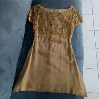 Gold Dress By BIYAN (REPRICEEE)