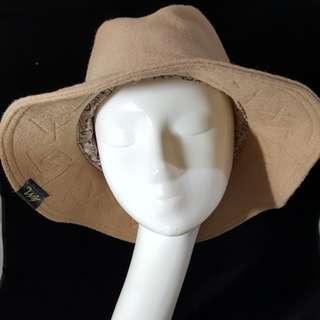 🚚 TM.s手作帽 羊毛紳士高帽大帽沿 頭圍57-58