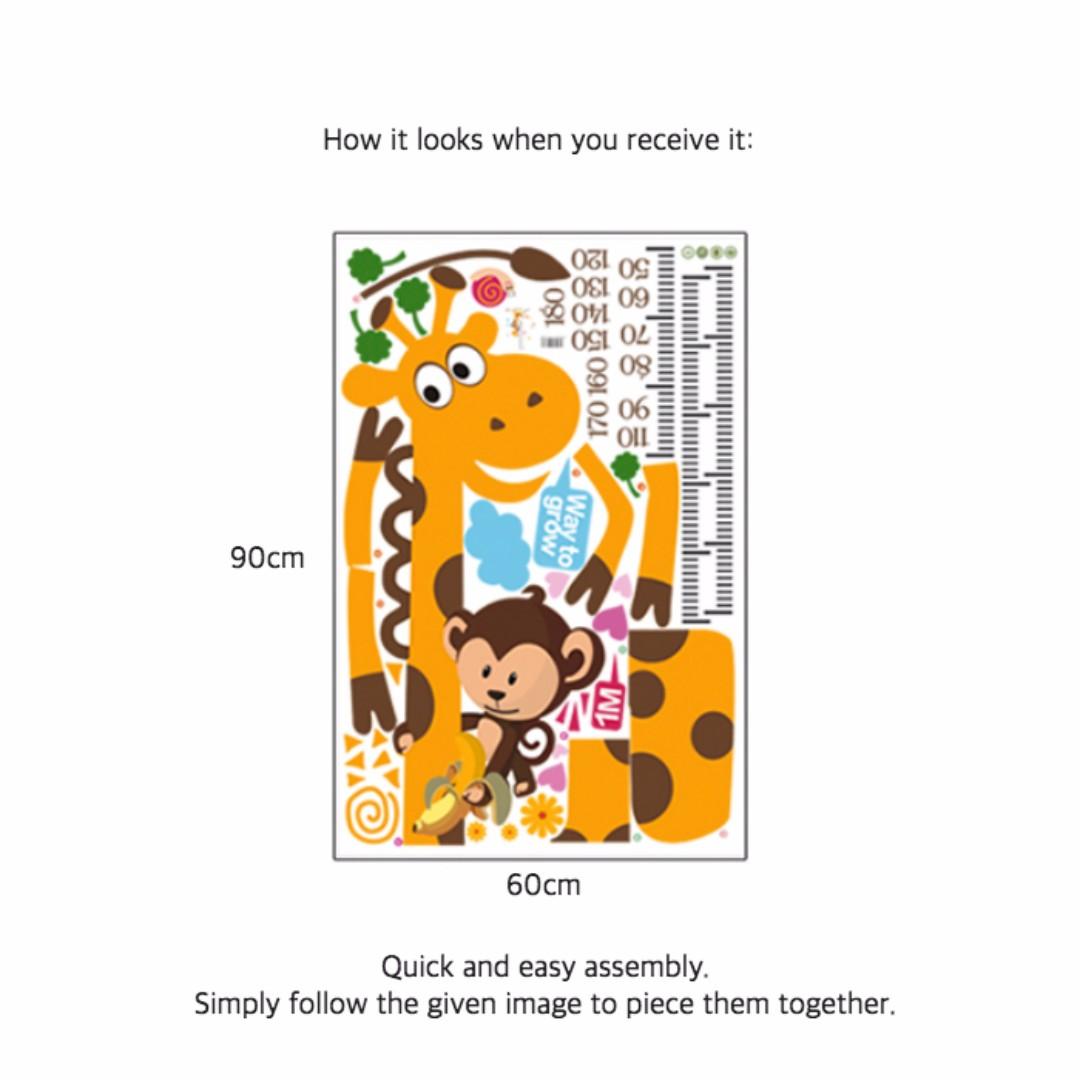 2 for 15 giraffe growth chart wall decal wall height measurement 2 for 15 giraffe growth chart wall decal wall height measurement boys girls kids children ruler sticker art decor mural wallpaper for nursery nvjuhfo Choice Image
