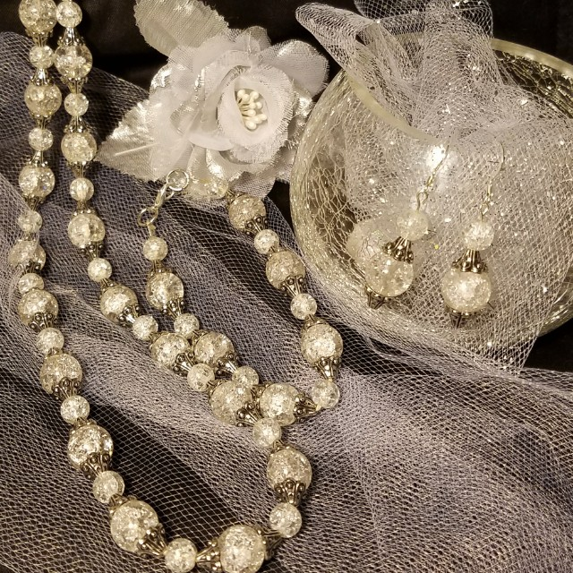 3 Piece Necklace, Bracelet, & Earring Set