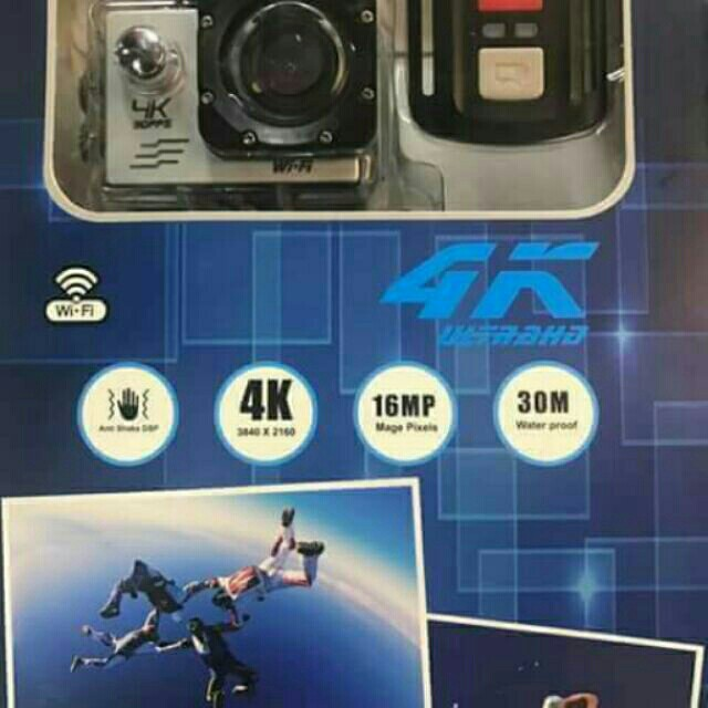 4K Ultra HD Sports Cam/ Underwater Cam with Remote and Wifi