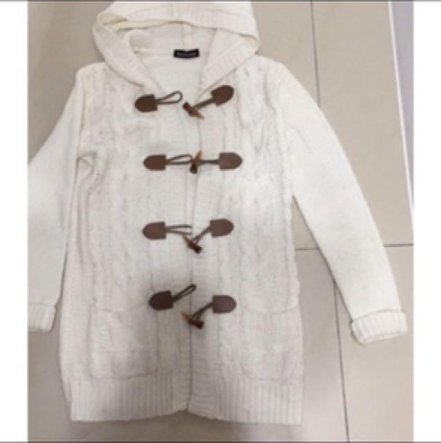 針織外套、牛角扣外套、日式外套