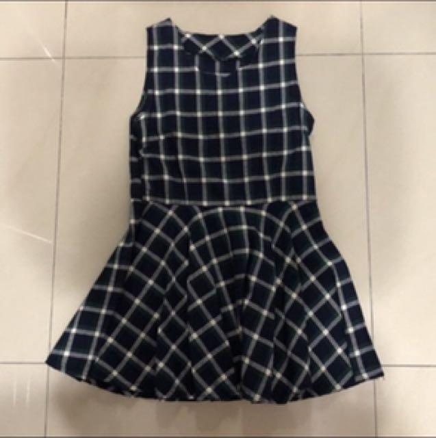 洋裝、格子洋裝