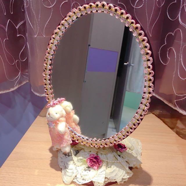 木製蕾絲立鏡