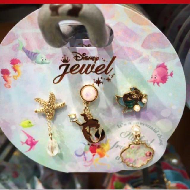 迪士尼小美人魚耳環一組