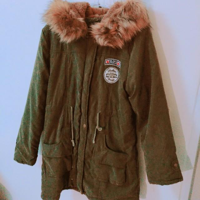 墨綠軍外套