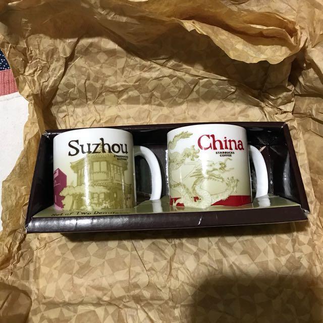 星巴克城市杯 中國與蘇州 兩個杯子一組600