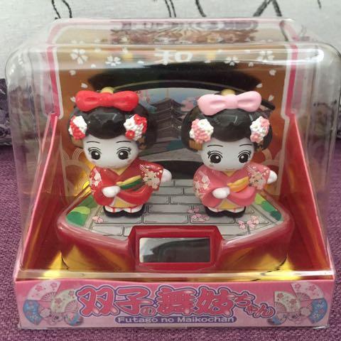 日本雙人舞妓 太陽能搖頭娃娃 #超取再七折