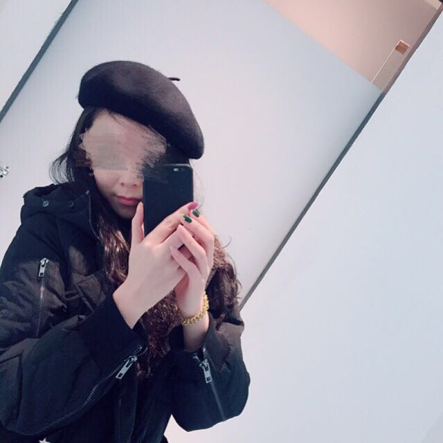全新 多買了 黑色貝雷帽 有鬆緊綁帶