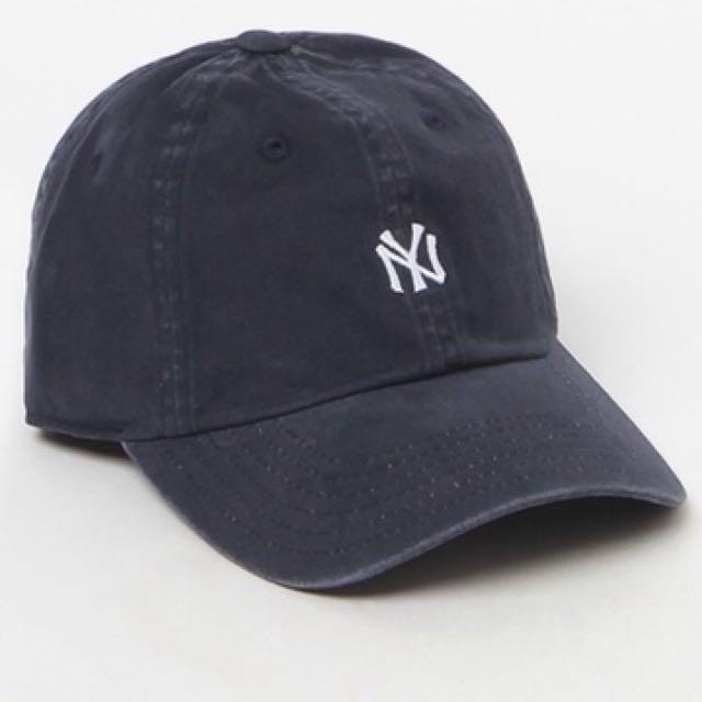 棒球帽 🧢洋基 深藍復古水洗 美國大聯盟正版授權