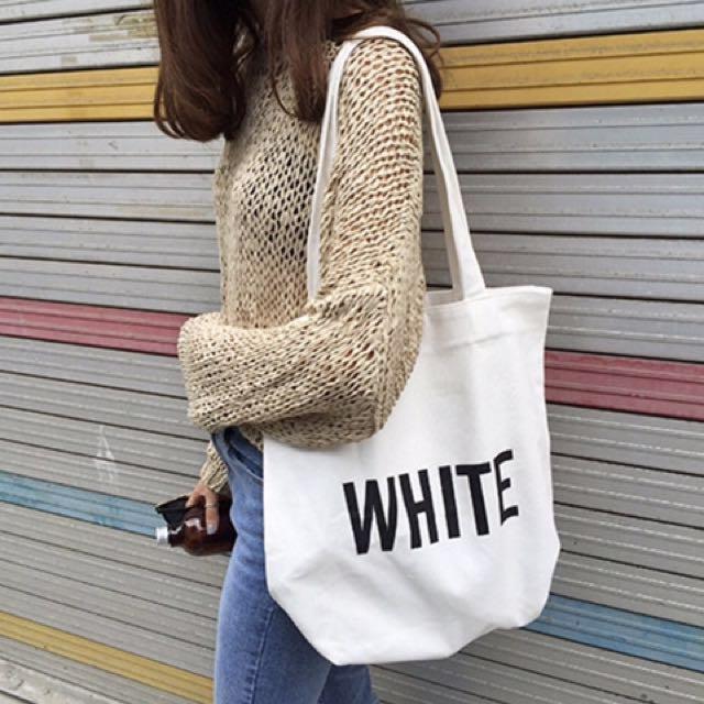 大學生百搭簡約書包  設計款印花布包 小清新學生帆布袋 購物包拉鍊  手提袋 肩背包