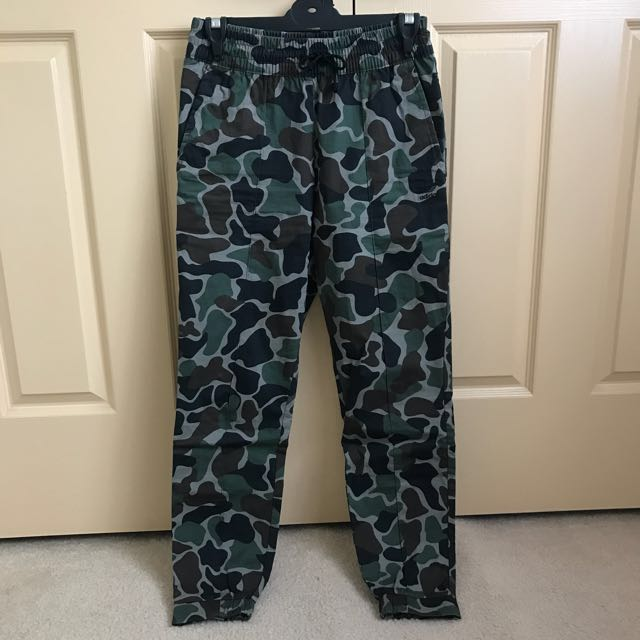 Adidas high waisted camo pants