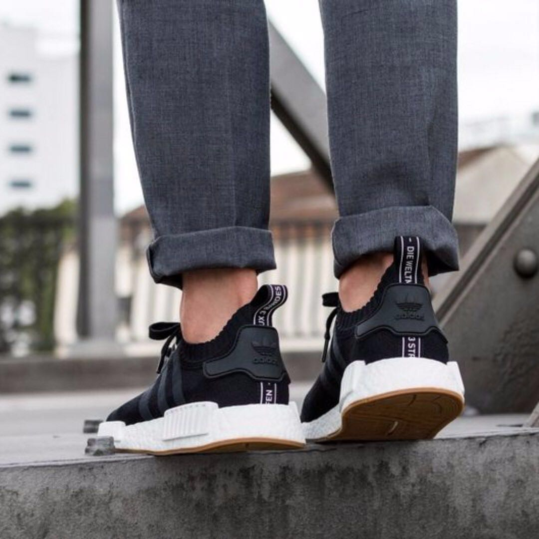 Adidas NMD Core Black Gum Sole R1 US10.5 2722122f2