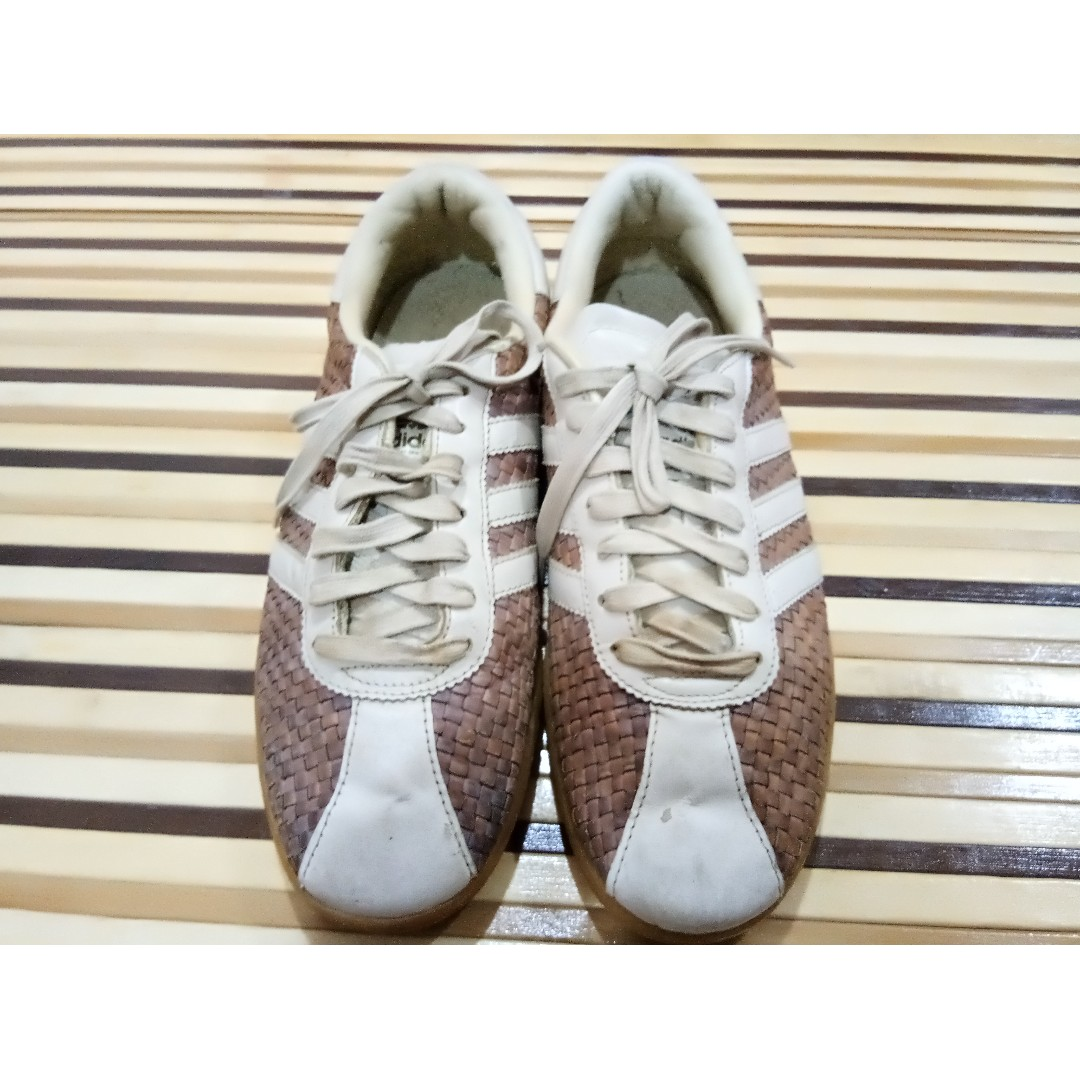80d6f44b0096 ADIDAS ORIGINAL TOBACCO WEAVE LEATHER TRAINERS UK 9.5