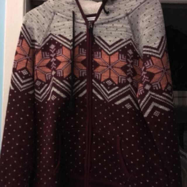 AE Christmas Zip Up Sweater