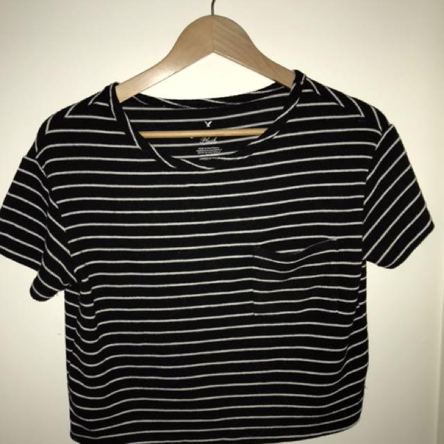American Eagle Striped Shirt